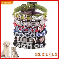 NEWEST Metallic Dog Cat Pet Rhinestone Collar XS, S, M, L, XL US WF