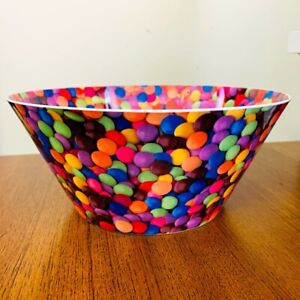 Melamine Colourful Smarties Style Kids Party Snack Large Bowl