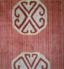 CLARENCE HOUSE Gaudin Chinese Red Woven Linen Cotton Viscose New Remnant Italy