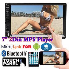 2-DIN Car Stereo 7 INCH In-Dash Digital Media Receiver AM Bluetooth Touchscreen
