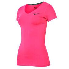 Nike Pro Shortsleeve V-Neck (XS) UK 8 Pink