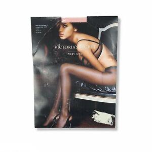 NWT Victorias Secret Very Sexy Micro Fishnet Control Top Pantyhose Pink Womens B