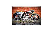 1958 3ta Bike Motorcycle A4 Retro Metal Sign Aluminium