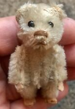 """Rare Antique Miniature 2.5"""" White Mohair Schuco Piccolo Bear Nice Nr!"""