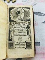 TRIBUNAL CHRISTI, seu arcanum Drexelius Hieremias Constantin Munch 1635 RARE
