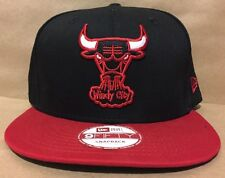 New Era Chicago Bulls NBA Hardwood Classic Word Back Blk/Red 9Fifty Snapback NWT