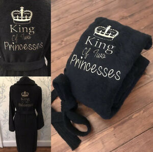 Luxury Embroidered soft King Queen soft 100% Cotton Bathrobe Dressing gown,robe
