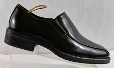 Axcess Mens A Claiborne Vernon Black Leather  Slip On Shoes US 11 Medium