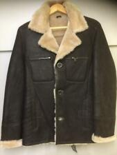 Men's Sheepskin Jacket real leather new with labels dark brown XL extra large