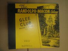 78RPM RCA Victor Custom, Randolph Macon Glee Club 3 record set, beautiful E
