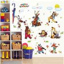 Animale Festa Di Compleanno murale in vinile rimovibili Wall Sticker Vivaio Stanza UK 892a