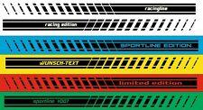 Racing Motorsport Streifen mit Wunschtext 2 x Seitenstreifen