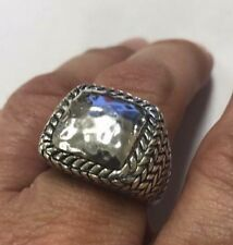 Rare Silpada Sterling Silver Hammered Braided Dome Ring R1646 9 9.5