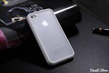 Design TPU Hülle für Apple iPhone 4s 4 Tasche Schale Case - Weiss (19WE)