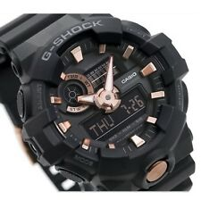 CASIO G-SHOCK, GA710B-1A4 GA-710B-1A4, ANALOG DIGITAL, BLACK x ROSE GOLD TONE