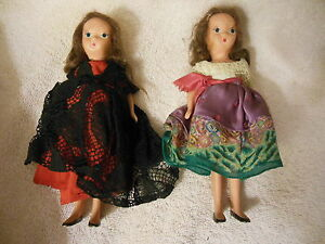 """TWO  7"""" All Bisque girl """" dolls   FREE Shipping"""