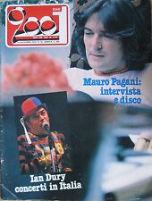 CIAO 2001 46 1978 Mauro Pagani Ian Dury Beach Boys Marshall Tucker Andy Mackay