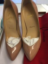 nwb 100%auth Christian Louboutin  breche 100 Nude Patent SHOES 5.5 5 35.5
