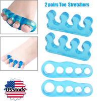 Toe Separator Stretchers Yoga Foot Gel Bunion Corrector straightener 2 pairs/Set