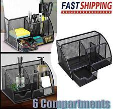 Metal Desk Organizer Caddy Desktop Accessories Storage For Home Office Supplies