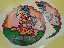 Mr Do's Castle Arcade Game Side art decal set