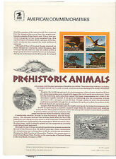 #2422-5 25c Dinosaurs USPS #338 Commemorative Panel