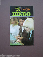 Vintage 1970s Harrah's Casino How to Play Bingo Booklet
