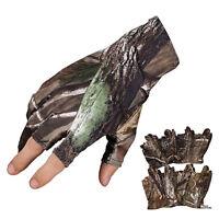 Anti-slip Fishing Gloves 3 Fingerless Waterproof Sun Protection Camo Fish Gloves