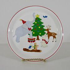 "Mikasa Christmas Plate Elephant Christmas Fun Santas Cookies CC010 Japan 8"""