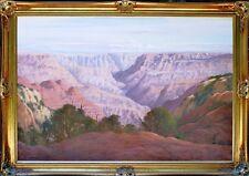 Australian Artist .. Leonard Long huge original oil titled 'Grand Canyon'.