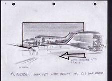 DRAGNET '87 ORIGINAL STORYBOARD ART DAN AYKROYD CARL ALDANA 6 PAGES ESCAPE SCENE