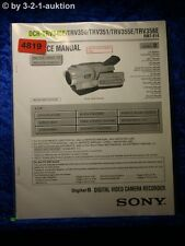 Sony Service Manual DCR TRV345E TRV350 TRV351 TRV355E TRV356E Level 2 (#4819)
