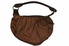 Split SPRING FLING BAG Mocha Brown Orange Yellow Green Paisley Interior Purse