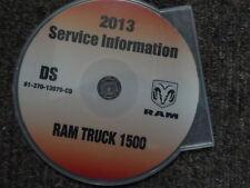 2013 DODGE RAM TRUCK 1500 Service information Shop Workshop Repair Manual CD New