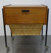 mid century modern design sewing table 60s Nussbaum Designer Tisch Nähtisch 60er