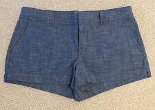 Ladies Gap Chambray Shorts Size 14