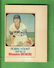 1975 HOSTESS #80 ROBIN YOUNT UNCUT ROOKIE CARD MILWAUKEE BREWERS - RARE