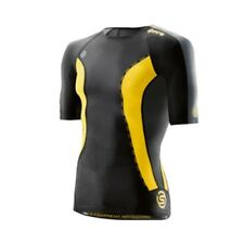 Skins DNAmic Mens Short Sleeve Top (Black/Citron) + FREE AUS DELIVERY | BUY NOW!