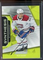 19/20 UD ENGRAINED NICK SUZUKI SYNTHESIS RC ROOKIE INSERT #44