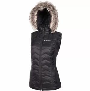 Klim Womens Black Arise Mid Layer Snowmobile Vest Snow Snowcross Sz Medium