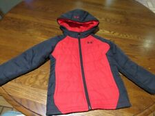 Under Armour toddler boy jacket size 4 red and black Euc