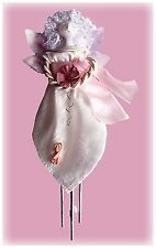 "Made-in-the-Usa 14"" Tall Breast Cancer Angel Indoor Solar Chime by Sunblossum"