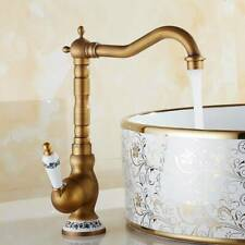 Antik Messing Badamatur Wasserhahn Waschbecken Retro Mischer Waschtisch Armatur