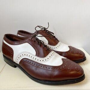 Allen Edmonds Oxfords Broadstreet Spectator Wingtip Leather Men's Size 8 1/2