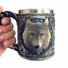Game of Thrones 3D Cup House Stark Wolf Drinking Mugs Resin Stainless Steel Beer