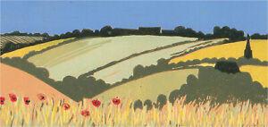 Sarah Kelsey - Contemporary Linoprint, Across the Fields