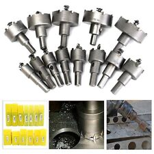 13PCS Carbide Tip TCT Drill Bit Hole Saw Set Stainless Metal Alloy 16-53mm CA