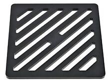 "255mm 25.5cm ~10.1"" Square Matt Black drain cover gully grid grate steel metal"