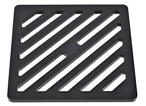 "250mm 25cm ~10"" Square Matt Black steel drain cover gully grid grate powder coat"