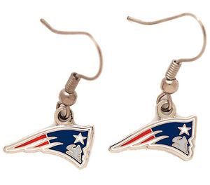 New England Patriots NFL Logo Key Dangle Earrings